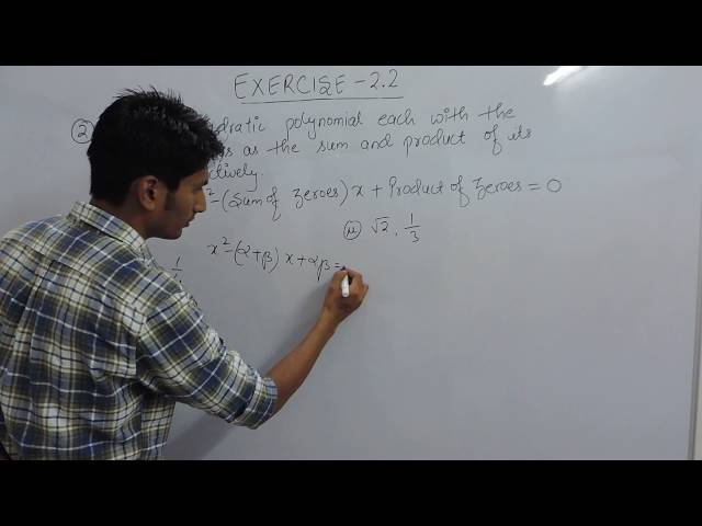 Exercise 2.2 Polynomials Question 2 (i, ii) NCERT/CBSE Solutions for Class 10th Maths