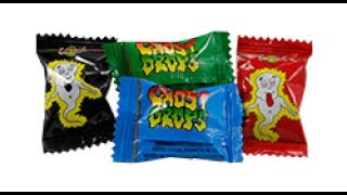 BOO!! Spooky Ghost Drops Vs Gooey Zapo's Drops Candy Review **1st ever candy Review**