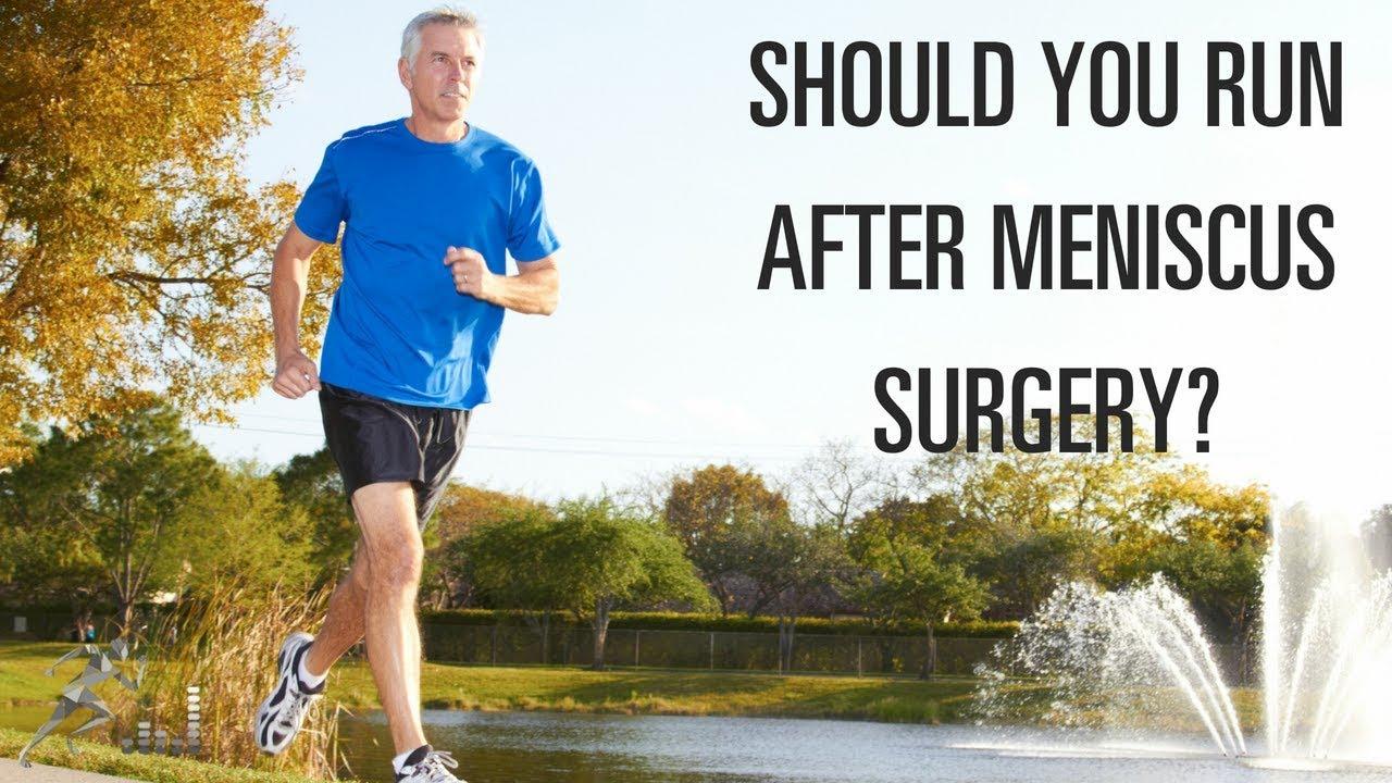 running on treadmill after meniscus surgery
