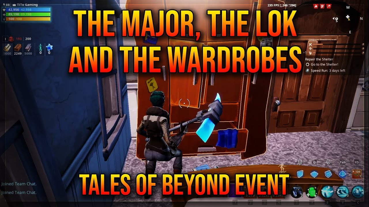 THE MAJOR, THE LOK, AND THE WARDROBES   DESTROY CLOSETS THAT MAY HARBOR  MONSTERS   TALES OF BEYOND