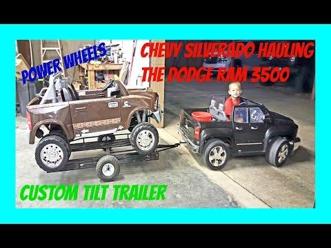 ride on power wheels chevy silverado 12 volt hauling the do. Black Bedroom Furniture Sets. Home Design Ideas