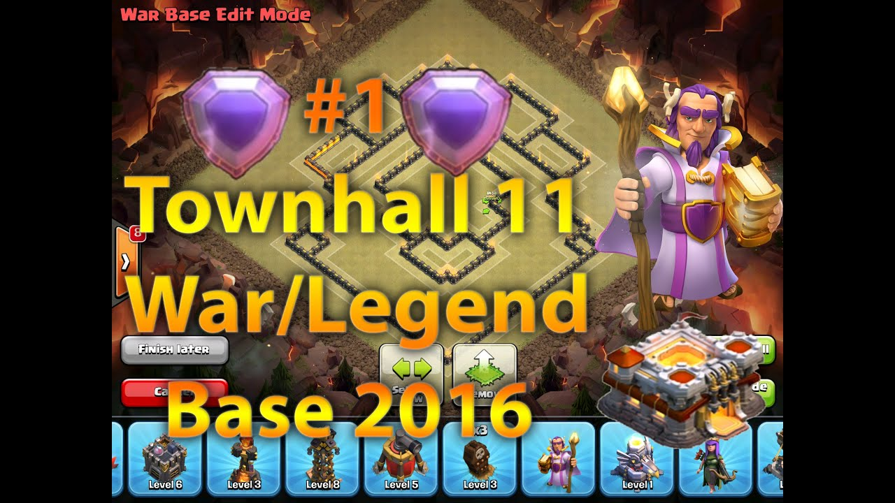 Clash of clans 1 best new townhall 11 th11 war legends league