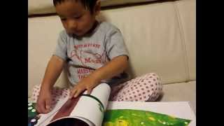 chic loves 'The Very Hungry Caterpillar' book, and also he likes to...
