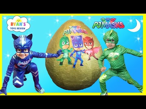 Thumbnail: PJ MASKS GIANT EGG SURPRISE Toys for Kids Disney Toys Catboy Gekko Owlette PJ Masks IRL Superhero