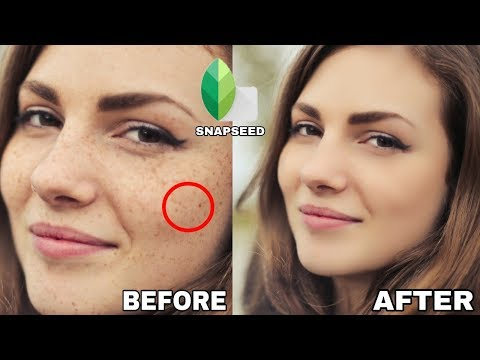 How To Clean Face In SnapSeed App In Mobile By Trending Sardar