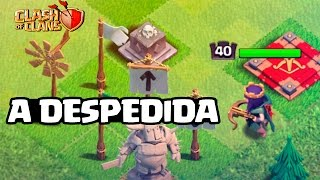 ME DESPEDINDO DA RAINHA 40! SAUDADES! 💔💔💔 CLASH OF CLANS 2016