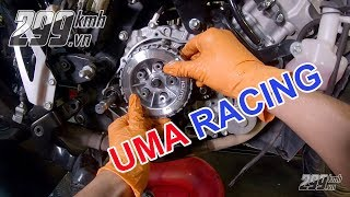 Nâng cấp nồi 5 lò xo Uma và bơm nhớt độ Uma cho xe Honda Winner
