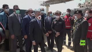 نائب أردوغان ووزير الخارجية يزوران موقع الانفجار في بيروت