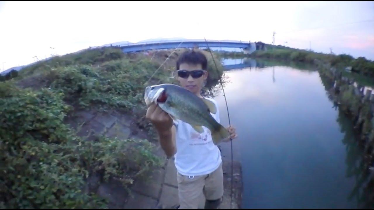養老でバス釣り7+津屋川2014年9月23日