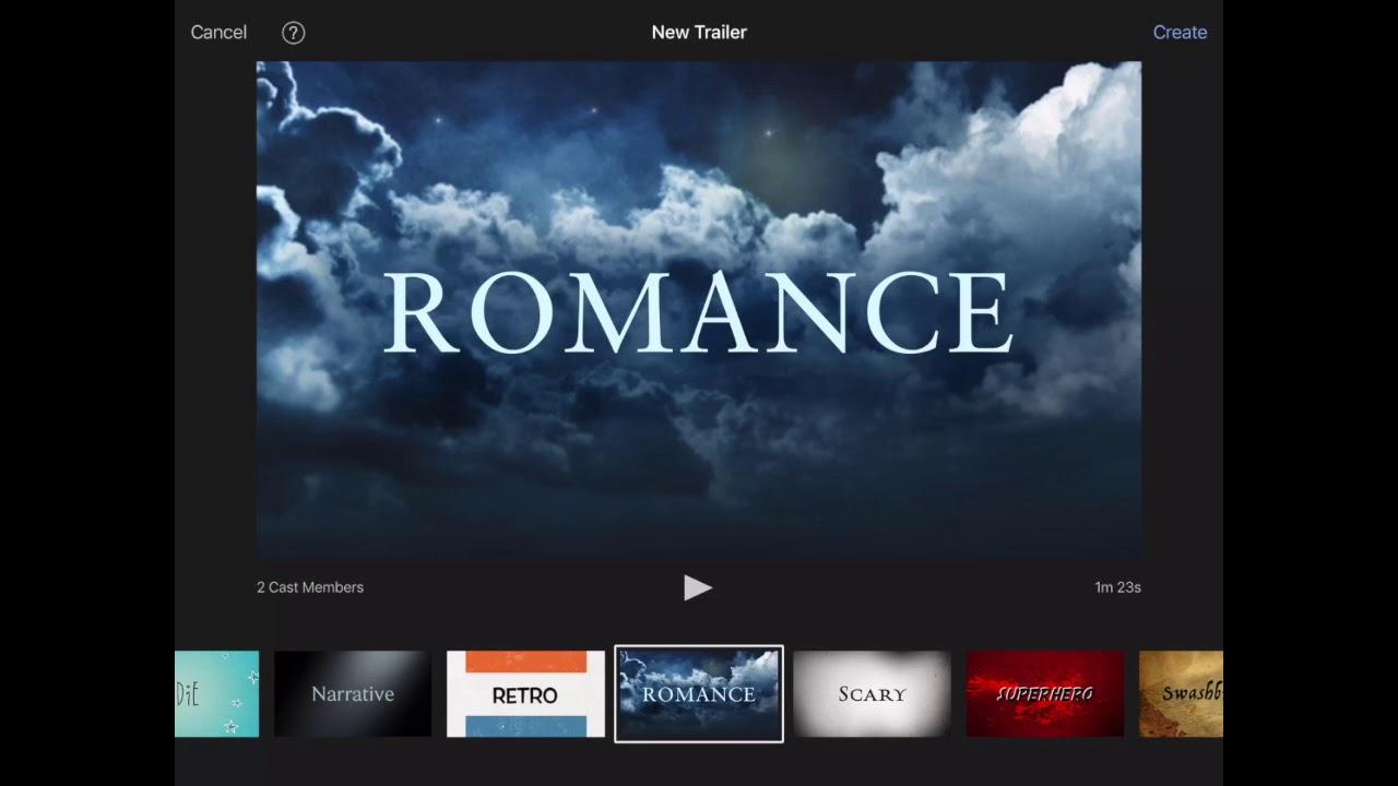 Imovie Trailer Tutorial Youtube