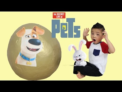 The Secret Life Of Pets Giant Golden Toys Surprise Egg Opening Fun With Ckn Toys