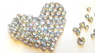 Rhinestone Heart Embellishments - Valentine's Day Crafts