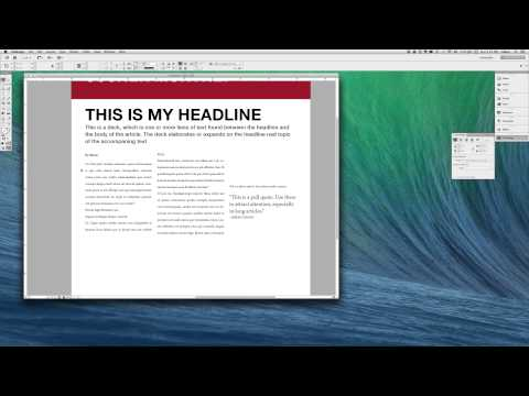 Typesetting on InDesign