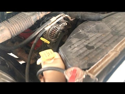 alternator wiring diagram 98 ram 1500 how to replace an alternator dodge 5 9 magnum engine youtube  how to replace an alternator dodge 5
