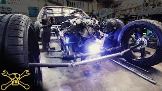 New Front Axle Setup & Anti Roll Bar | Fox Body Mustang Hot Rod Build