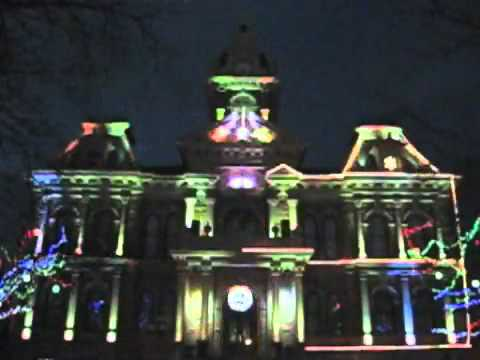 Courthouse Holiday Lightshow in Cambridge, Ohio