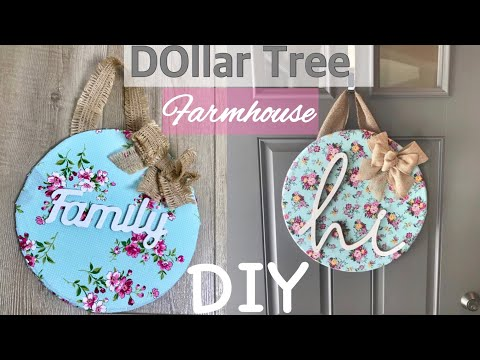 Farmhouse Decor DIY||Dollar Tree DIY||Door Hanger||Decorate With Me||Spring Decor DIY 💜