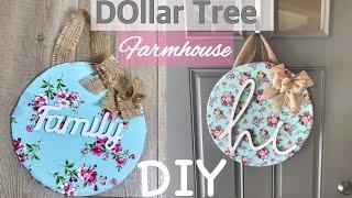 Farmhouse Decor DIY||Dollar Tree DIY||Door Hanger||Decorate With Me||Spring Decor DIY 💜