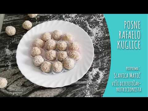 Posne rafaelo kuglice - video recept