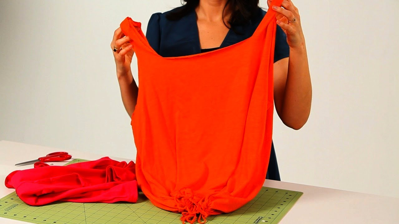 How to Prep T-Shirt for No-Sew Tote Bag | No-Sew Crafts ...