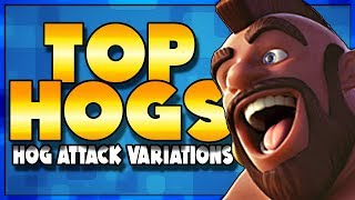 3 Variations of TOP LEVEL Hog Attacks | Clash of Clans