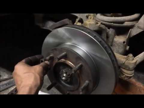how to replace brakes and rotors on a dodge 3500 4×4 1996