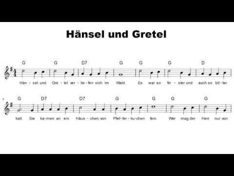 Hänsel und Gretel | Lieder mit Noten #11