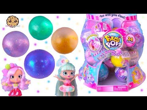 Pikmi Pops Bubble Drops Surprise Blind Bag Balls with Shopkins Shoppies !
