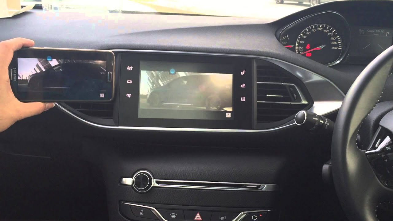 peugeot 308 2015 mirror link system and dvd player youtube. Black Bedroom Furniture Sets. Home Design Ideas