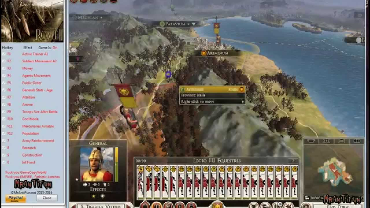 Total war: rome 2 emperor edition trainer +15 build 16155 v2. 2. 0.