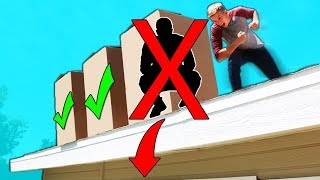 DO NOT Push the Person OFF THE ROOF Challenge!!