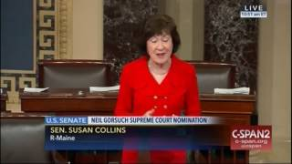 "Sen. Susan Collins Announces She Will Support Judge Gorsuch ""He Is Eminently Well Qualified"""
