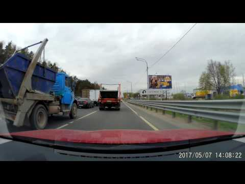 Moscow driving: out of Moscow [front view] - Xiaomi Yi