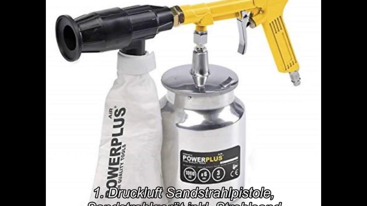 Sandstrahlpistole Druckluft Sandstrahler Sandstrahlgerät mit 2,4kg Strahlsand