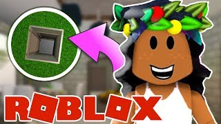 SPENDING 24 HOURS IN MY UNDERGROUND HOUSE! Roblox: Bloxburg