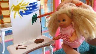 Раскраски барби - уроки рисования, учимся рисовать