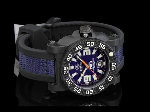 Reactor 73803 Gryphon Navy Dial Strap Watch with Never Dark Technology