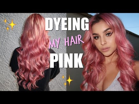 DYEING MY HAIR PINK!!!   Aidette Cancino