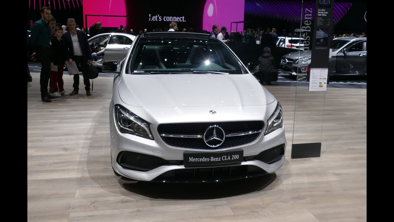 2019 Mercedes Benz Cla Shooting Brake 200 D Night Edition Youtube