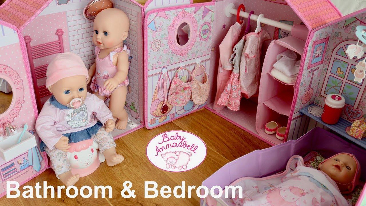 Baby Annabell Bathroom Bedroom Set Up And Pretend Play Dolls Boneka Hello Kitty Wedding14ampquotn A Babydolls Toysforchildren Pretendplay