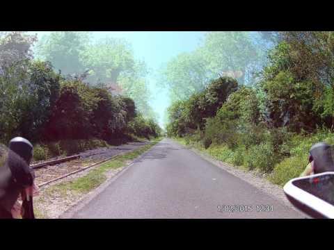 Mullingar to Athlone Cycleway 40km in 3min on slide. Eken H9 camera