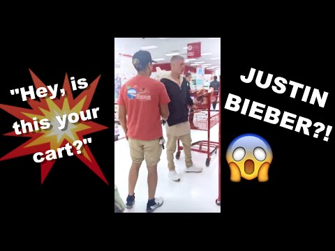 """""""Hey, is this your cart?"""" - JUSTIN BIEBER CAME UP TO ME!"""