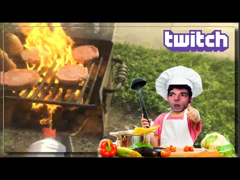 ICE POSEIDON COOKING MOOSE MEAT WITH FANS AT STUART BEACH W/ CHAT