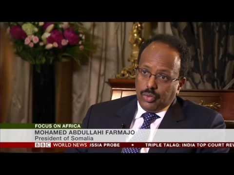 President Farmajo of Somalia