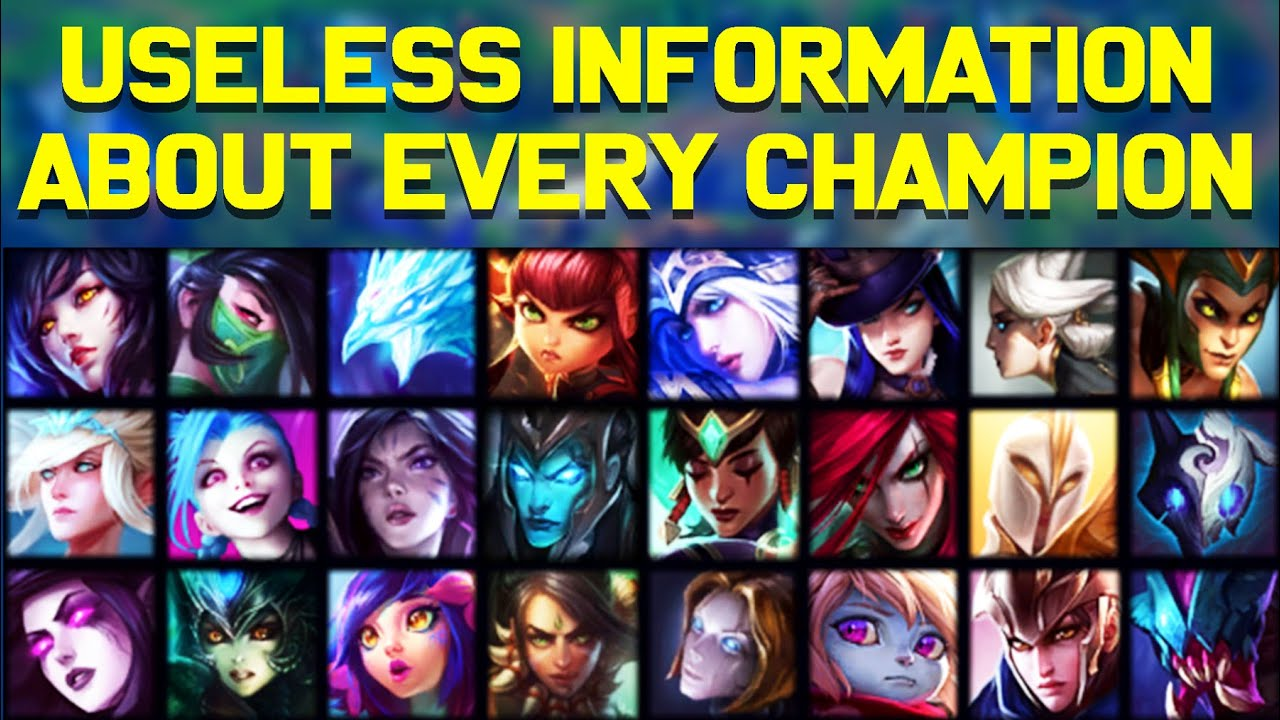 Useless Information About EVERY League of Legends Champion!