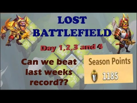 Castle Clash - Lost Battlefield, Can We Beat 1185 Points This Week?