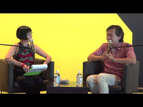 Artist Ah Xian with Claudia Chan Shaw