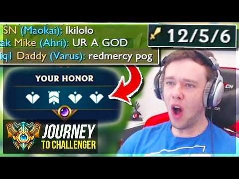 MY GODLIKE PLAY CARRIED THE GAME - Journey To Challenger  League of Legends