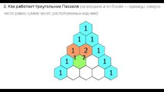 Видео  Как работает треугольник Паскаля