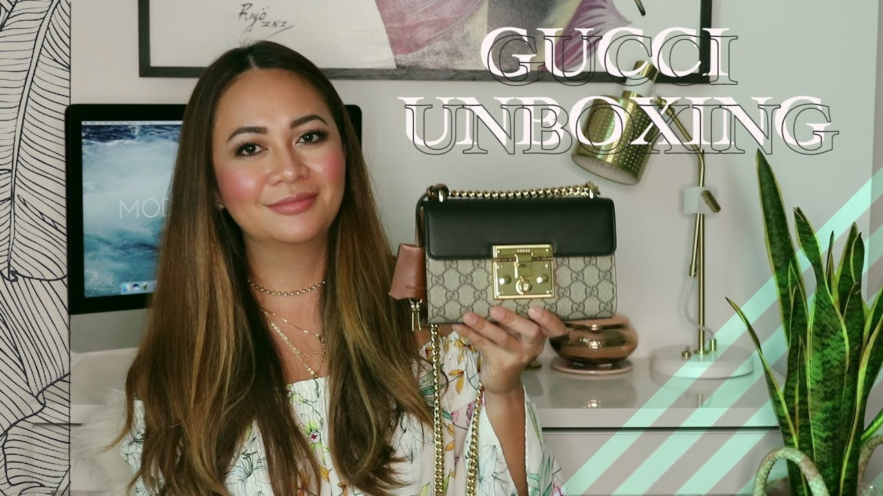 deca00a0c LUXURY BAG UNBOXING | GUCCI Mini Padlock Bag - YouTube